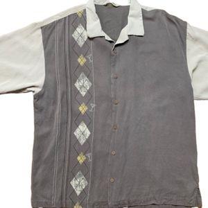 Tommy Bahama Silk Shirt Short Sleeve Martini